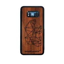 CASE WOODEN SMARTWOODS BEAR SAMSUNG GALAXY S8 PLUS