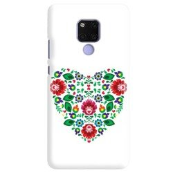 FUNNY CASE OVERPRINT WHITE HEART HUAWEI MATE 20 X