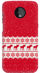 FUNNY CASE REINDEERS AND SNOWFLAKES OVERPRINT LENOVO MOTO Z3 PLAY