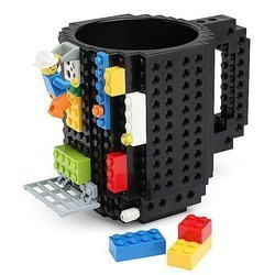 LEGO BLOCKS BLACK MUG PERFECT FOR GIFT HIT