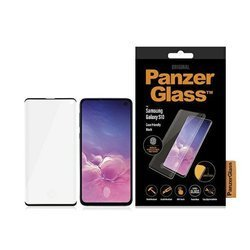 PANZERGLASS TEMPERED GLASS CURVED SUPER + SAMSUNG S10 CASE FRIENDLY  BLACK