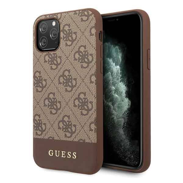 GUESS HARD CASE 4G STRIPE GUHCN58G4GLBR IPHONE 11 PRO BROWN