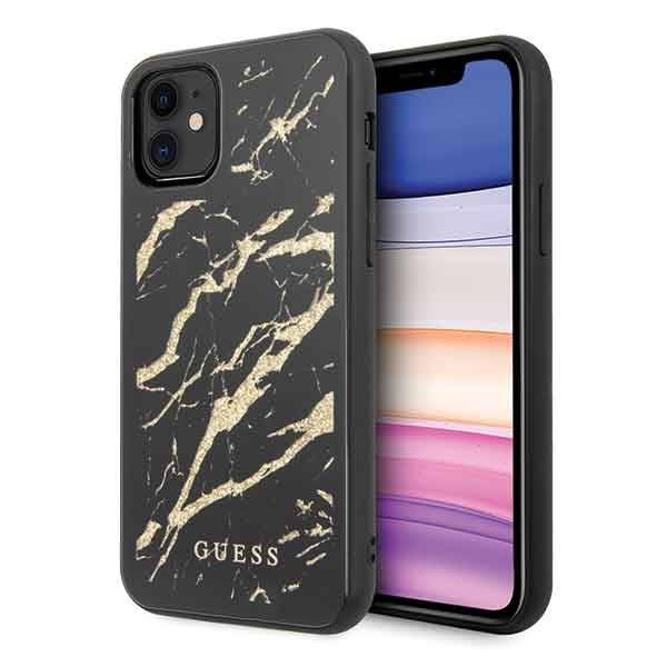 GUESS HARD CASE GLITTER MARBLE GUHCN61MGGBK IPHONE 11 BLACK